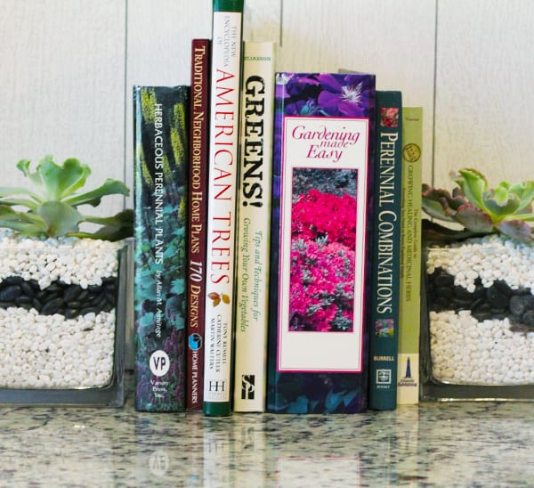 how to make succulent bookends
